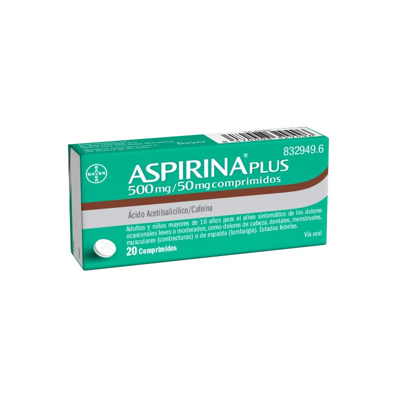 ASPIRINA PLUS 500 MG/ 50 MG...