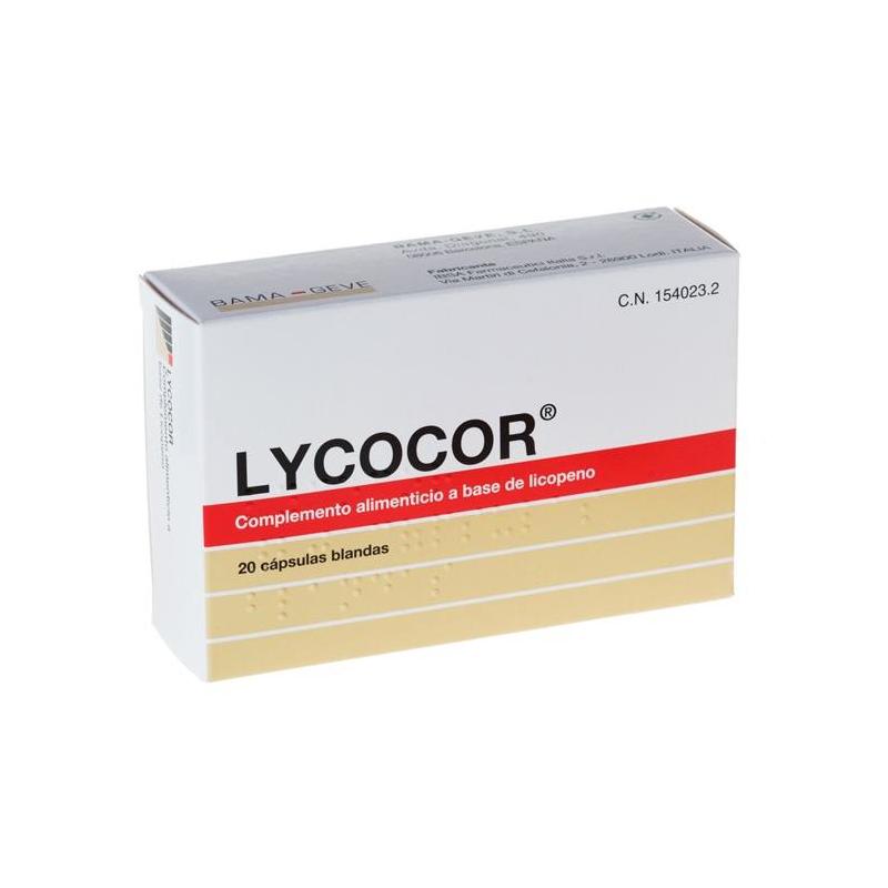 LYCOCOR 20 CAPS BLANDAS